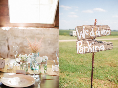 Rustic door county wedding