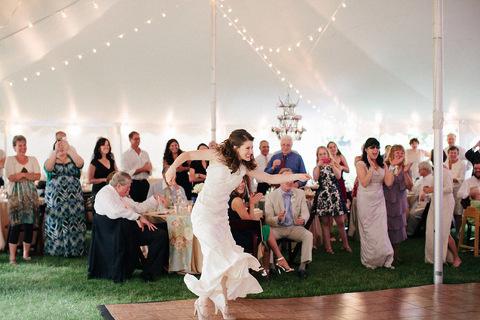 Rustic Outdoor Wisconsin Wedding Reception Backyard Elkhart