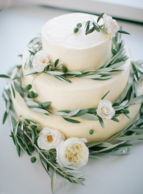 Olive Leaf Wedding Cake, Organic Wedding Cake, Farm Table, Wedding Farm  Table,