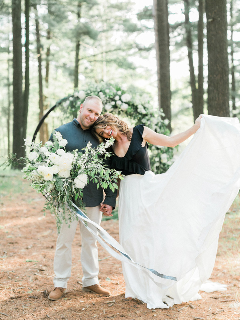 Stevens Point Elopement Wedding Inspiration In The Pines